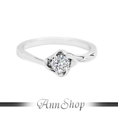 AnnShop~925純銀‧幸福相擁.鋯石 鑽石純銀戒指~可客製化鑽石珠寶銀飾 ZR749