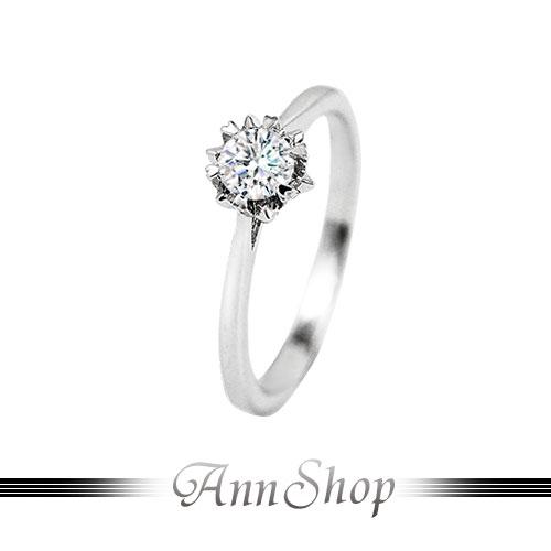 AnnShop~925純銀‧花嫁.鋯石 鑽石純銀戒指~可客製化鑽石珠寶銀飾 ZR785