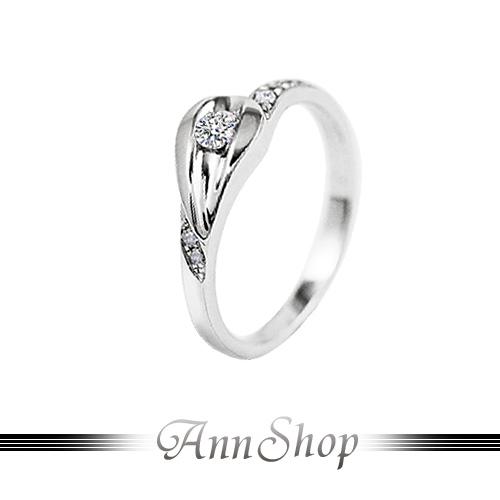 AnnShop~925純銀‧星燦.鋯石 鑽石純銀戒指~~女款~可客製化鑽石珠寶銀飾 ZR8