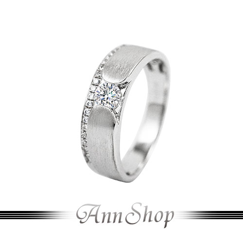 AnnShop~925純銀‧摯愛永恆.鋯石 鑽石純銀戒指~可客製化鑽石珠寶銀飾 ZR816