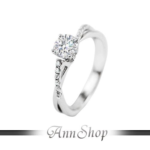AnnShop~925純銀‧愛戀情緣.鋯石 鑽石純銀戒指~可客製化鑽石珠寶銀飾 ZR935