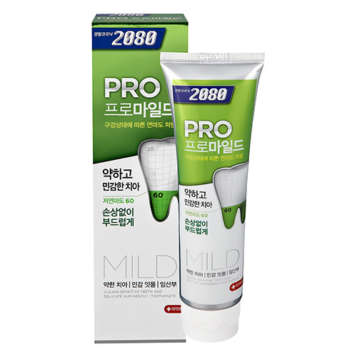 【韓國2080】專業亮白牙膏-溫和亮白-玫瑰薄荷125g