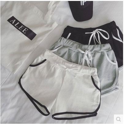 短褲鬆緊腰系帶 熱褲跑步褲k04~40610~aj~2