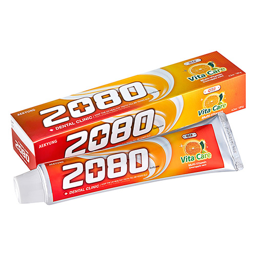 【韓國2080】Q10維他命護齦牙膏80g(2入)