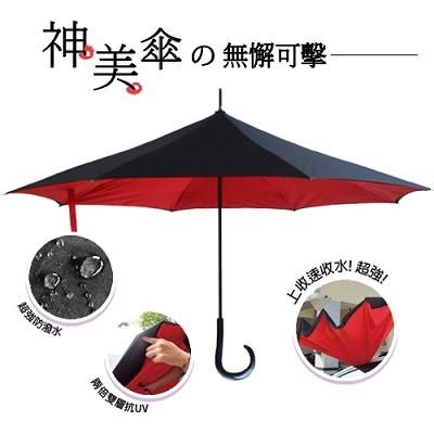 【揪揪購】上收式速收水UV神美傘(二入)