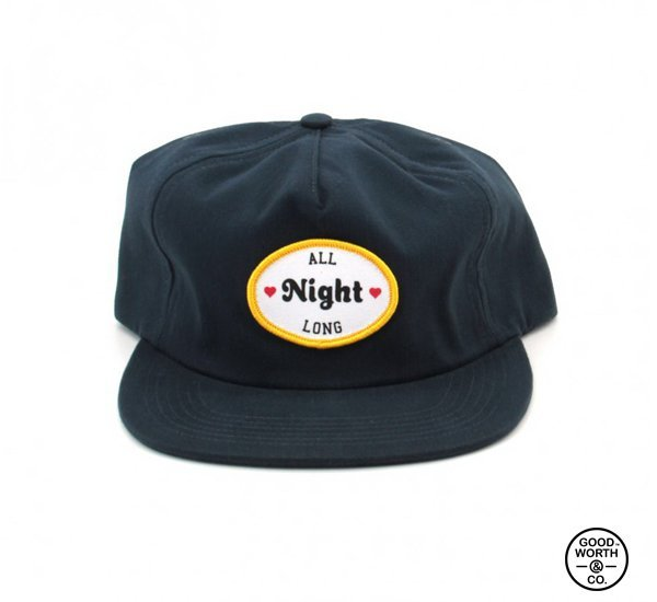 Good Worth All Night Long Snapback 情趣標語貼布帽款