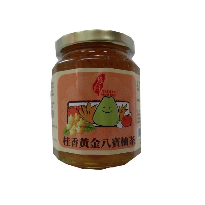 東森嚴選【珍台】桂香黃金八寶柚茶禮盒組(3瓶)