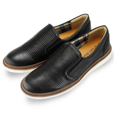 ~FUFTP19~紳士 皮革 舒適 好穿搭 懶人鞋