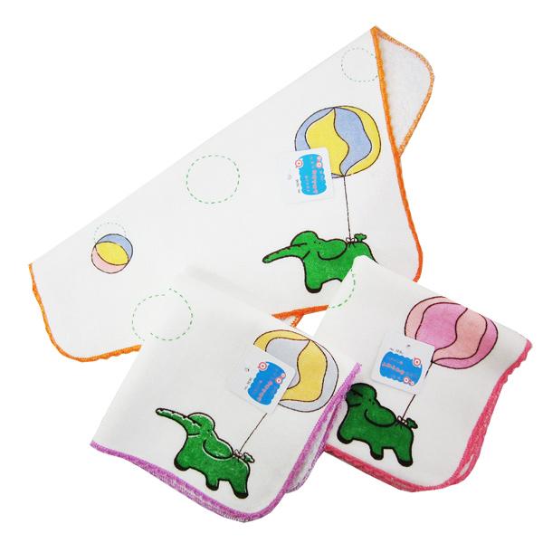 汽球大象純棉手帕~3696x4入