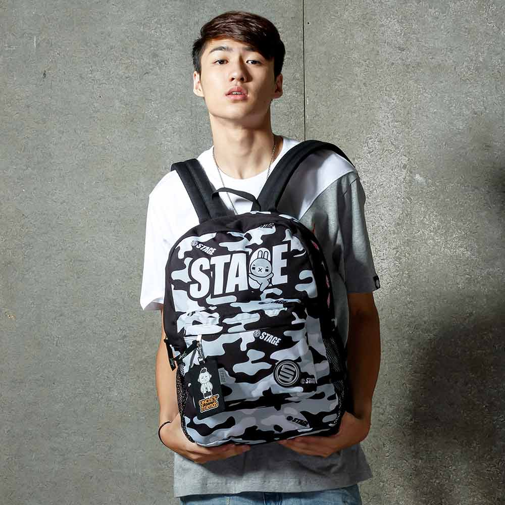 STAGE BAG × UNCLES FRIENDS GRAY BACKPACK 黑灰色