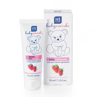 Italy 義大利 Babycoccole 寶貝可可麗 天然果膠兒童牙膏 草莓^(75ml