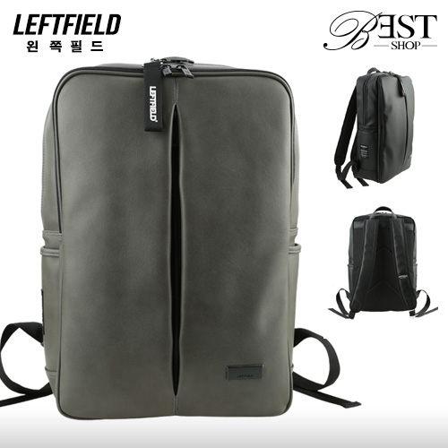 背包 後背包 LEFTFIELD 正韓品牌 極簡皮革公事包 電腦包~KRLF690~