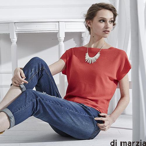 東森嚴選【di marzia】精品蠶絲針織上衣(紅)