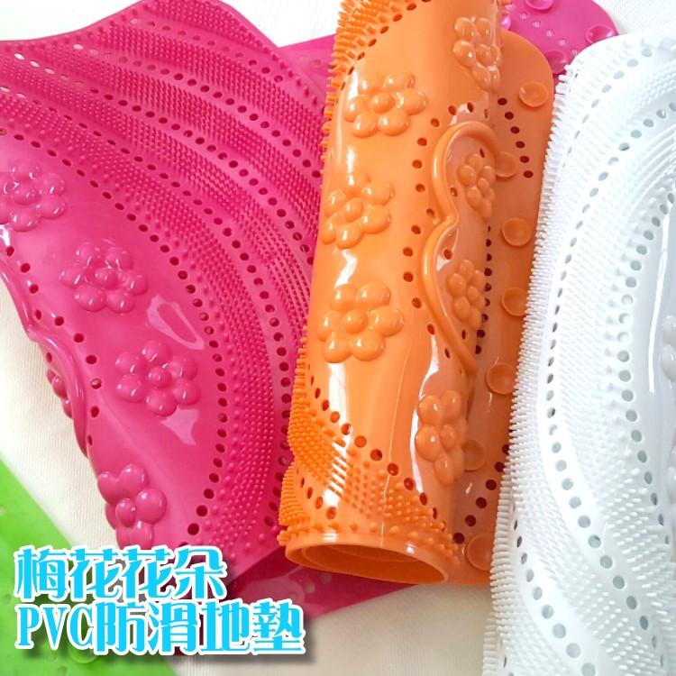 地墊~ZRV020~梅花花朵PVC防滑地墊 廚房 浴室 客廳 防滑 防水 腳踏墊 玄關 日