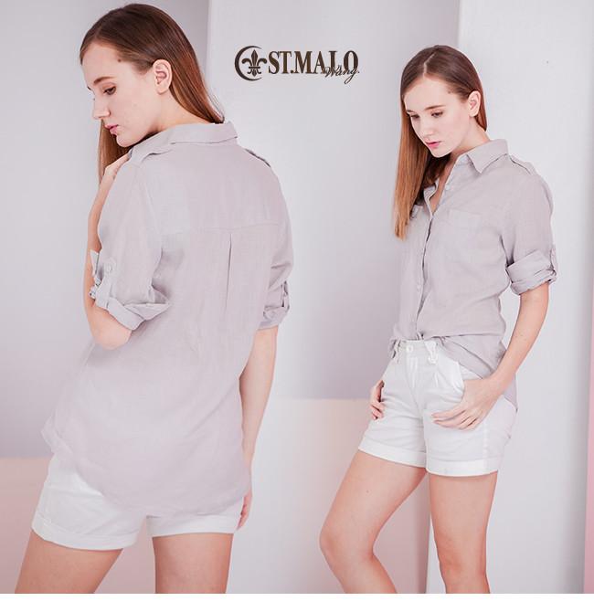 東森嚴選【ST.MALO】100%天然頂級亞麻南法度假襯衫