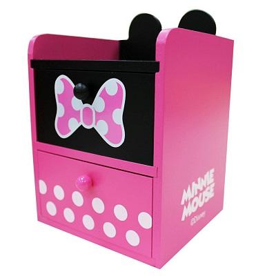 【迪士尼】米妮雙抽屜收納盒