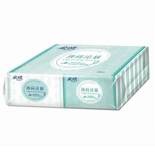 【柔情】薄荷涼感袖珍包面紙(10抽x30包)