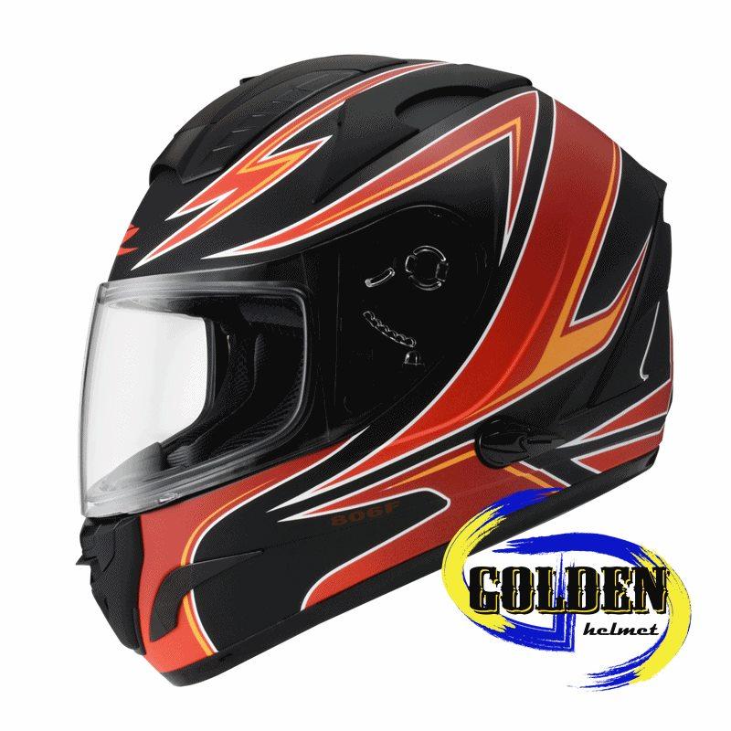 ZEUS 806F II57 平黑紅 全罩安全帽 ^(內藏墨鏡^)