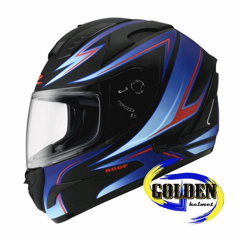 ZEUS 806F II57 平黑藍 全罩安全帽 ^(內藏墨鏡^)
