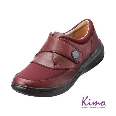 ~  2480~真皮扣帶休閒鞋^(氣質紅K15WF071147^)牛皮.網布.輕量~Kim