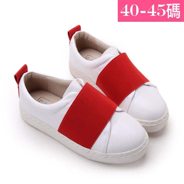 大 女鞋~大鬆緊舒適懶人休閒鞋/休閒鞋40~45碼 紅色~YSD6529❤172巷鞋舖~
