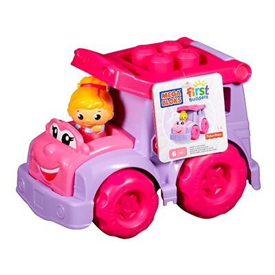 【MEGA】MEGA BLOKS-美高粉紅積木小車(不挑款隨機出貨)