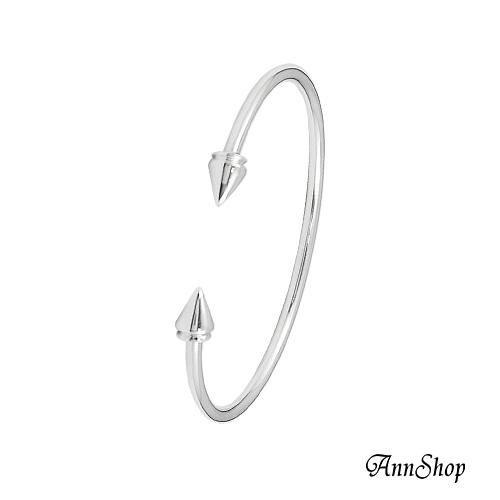 AnnShop小安的店~925純銀‧雙鉚釘手環~銀飾飾品 情人 b9543