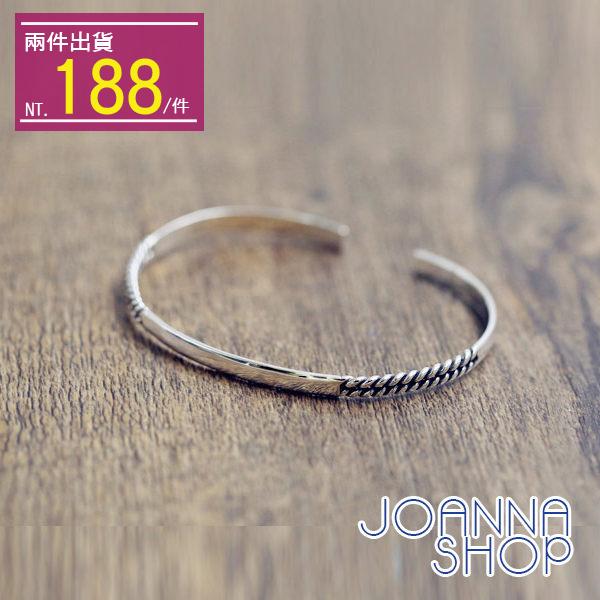 手環 半編織開口鏈條手環~Joanna Shop
