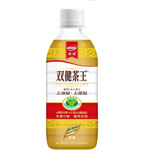 【愛健】雙健茶王英式風味茶(無糖)350ml-24入/箱