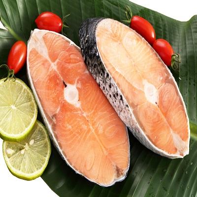 【冷凍店取-上野物產】智利鮭魚厚片輪切(290g/1入)