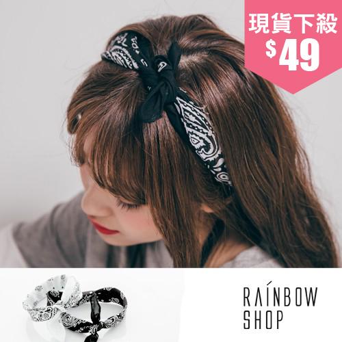 圖騰異國風髮帶 領巾~L~Rainbow~A3309290~