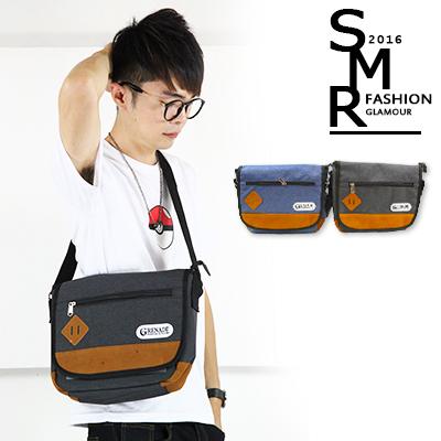 包包~帆布郵差包~簡約 款~79189~G045~黑色.藍色共2色~  ~~SMR~