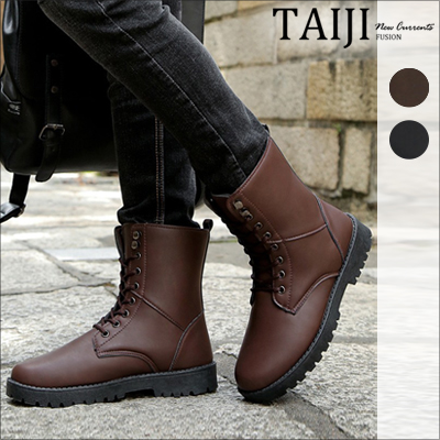 馬丁靴‧英倫復古高筒休閒馬丁靴‧二色~NK202~~TAIJI~