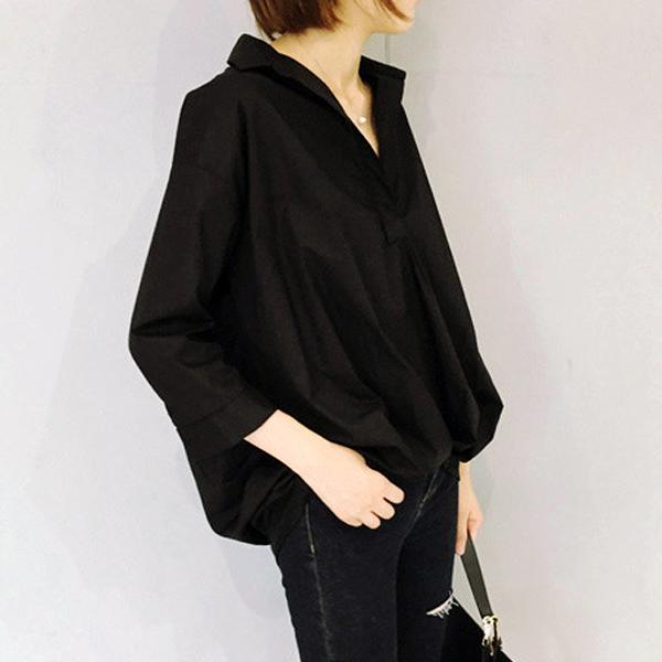 不誇張顯瘦版型七分袖襯衫  衣櫃控~WardrobE  DM~AU51