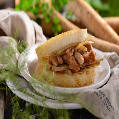 【冷凍店取-喜生】牛蒡雞肉米漢堡(12顆)