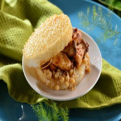 【冷凍店取-喜生】素沙茶鮮菇米漢堡(12顆)