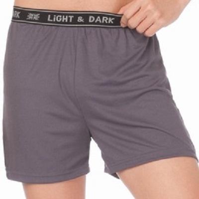 【LIGHT&DARK】英倫織帶吸濕速乾運動平口褲(灰)