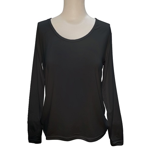 【LOZY】圓領女絨毛保暖衣Free Size(黑)