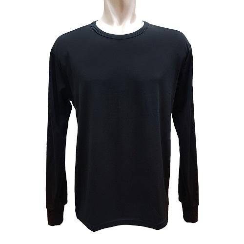 【LOZY】圓領男士刷毛保暖衣-黑