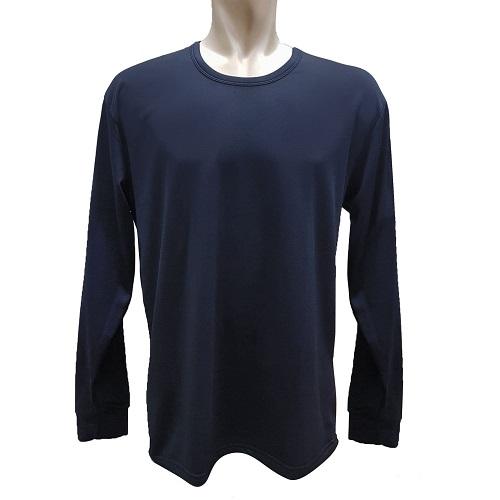 【LOZY】圓領男士刷毛保暖衣-藏青