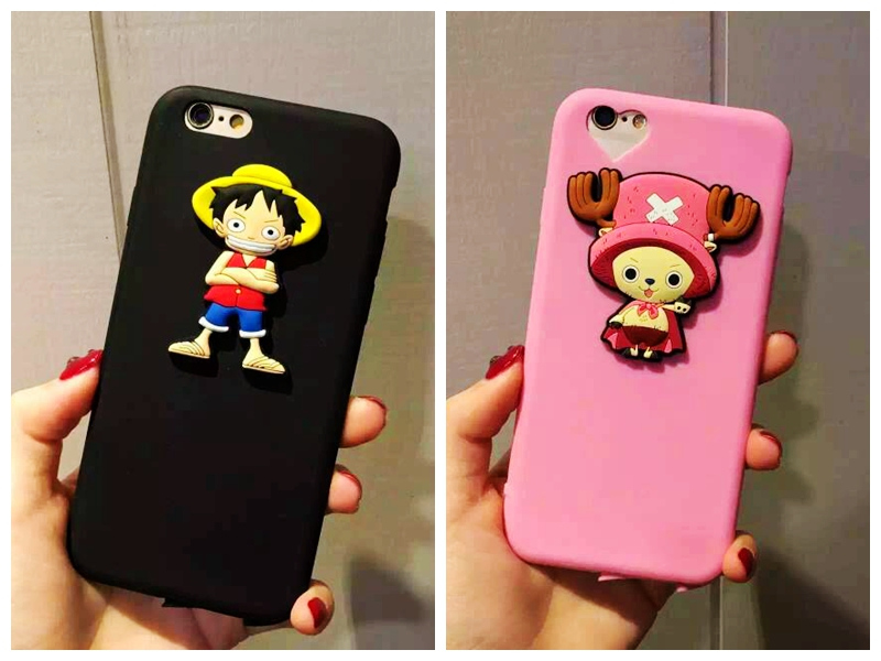 iphone6 s plus 魯夫 喬巴 海賊王 情侶殼 超軟 全硅膠 立體 全包 軟殼