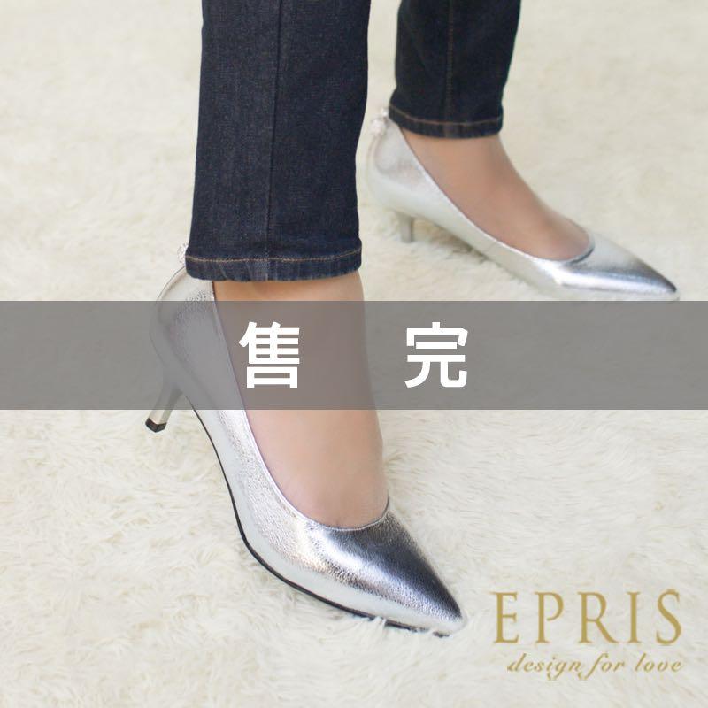 MIT小中大 婚鞋 米奇寶貝 尖頭真皮鞋墊水鑽低跟鞋 20.5~25.5 EPRIS艾佩絲