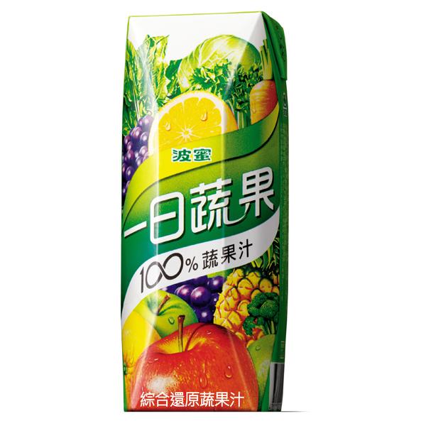 【波蜜】一日蔬果100%蔬果汁(250ml-18入/箱)
