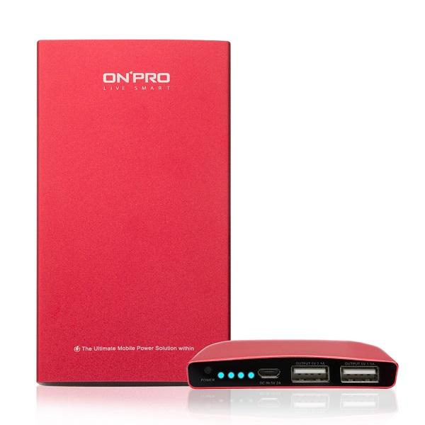 【ONPRO】8000mAh超急速充電行動電源/紅