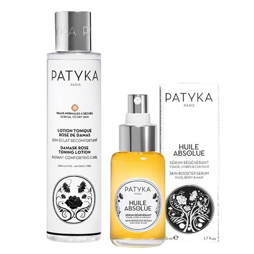 【Patyka】玫瑰基礎保養組野玫瑰活氧全效精華50ml+玫瑰保濕化妝水150ml