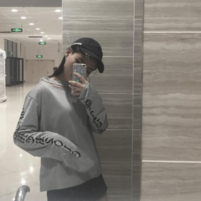 50^%OFF~G018116C~實拍韓國 女裝原宿寬鬆掛脖長袖t恤 ~長袖T洋裝羽絨外套