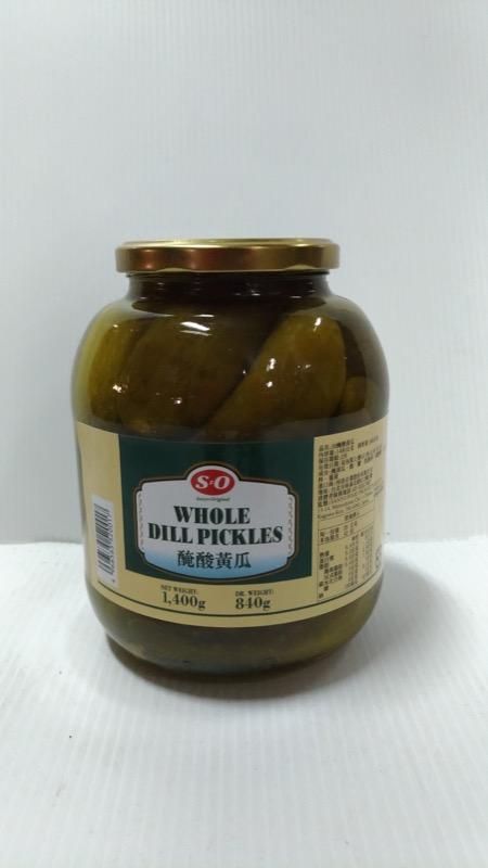 SO大酸黃瓜1400g 罐