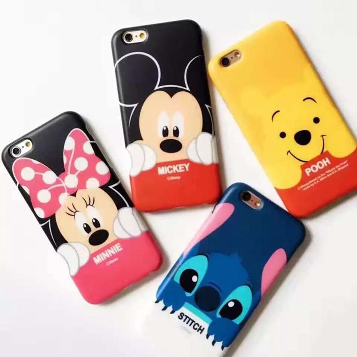 迪士尼 iphone6 s plus 史迪奇 維尼熊 唐老鴨 黛西 米奇 米妮 矽膠 全包
