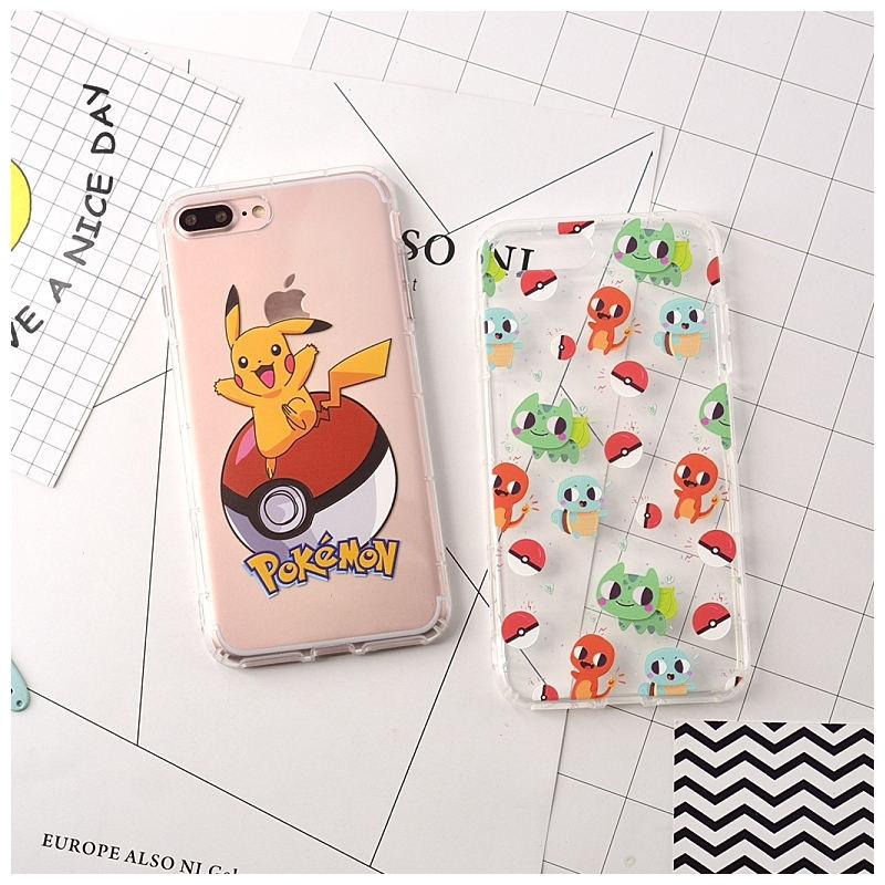 iphone i6 I7 s plus 空壓殼 Q版寶可夢 pokemon 皮卡丘 透明