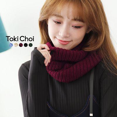 多彩素色保暖毛線圍脖^(2035449^)
